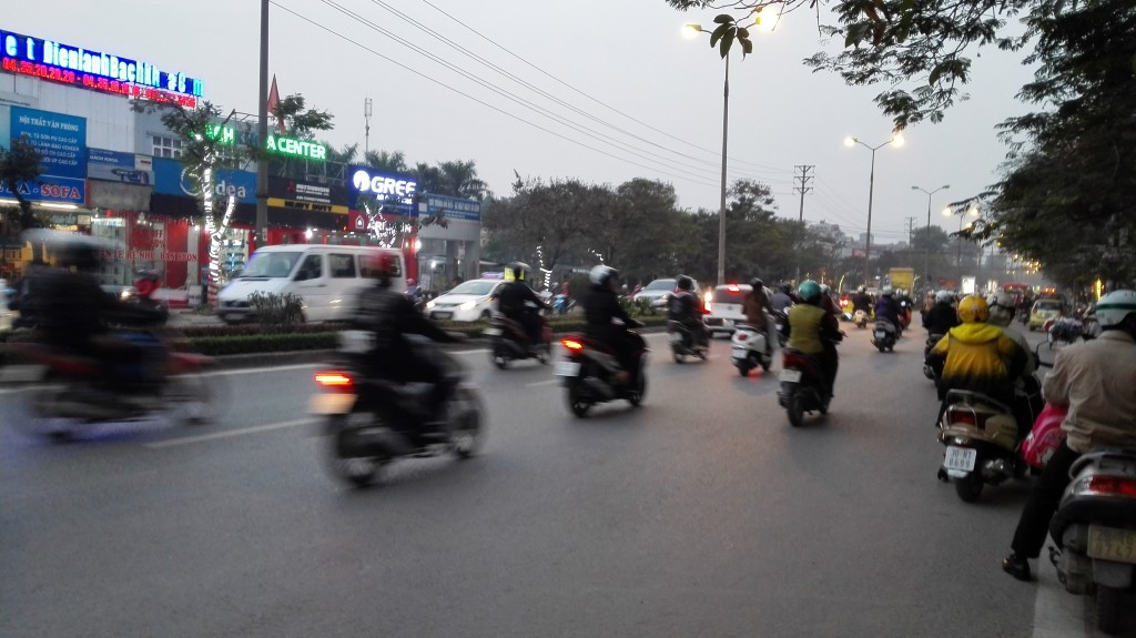 Evening commute in Hanoi