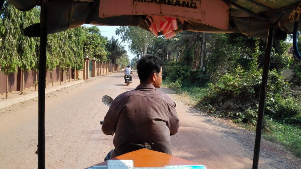 View from the back of a tuk tuk