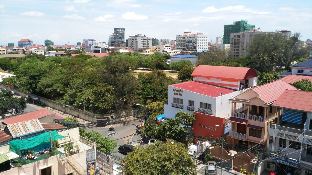 View of Phnom Penh from my apartment