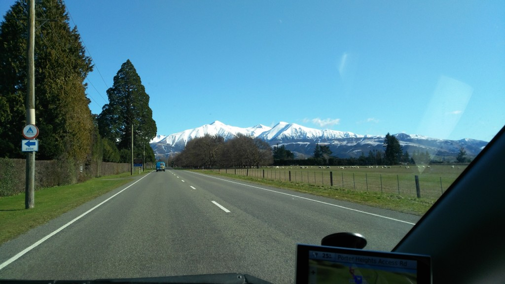Driving in the New Zealand countryside